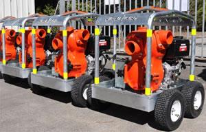 Heavy Duty Trolley Mounted 4inch Trash Pump