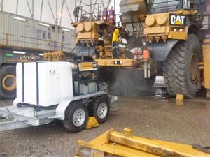 Aussie Steamer Cleans Mine Equipment