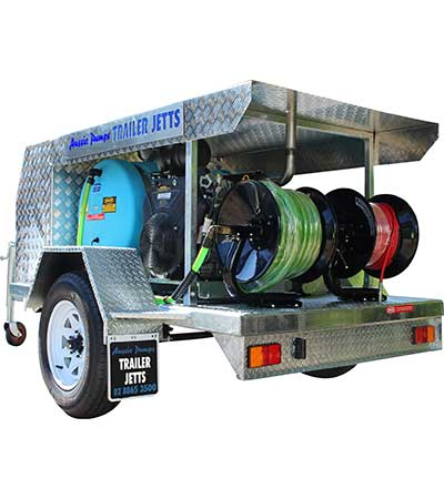 Drain Cleaning Equipment Aussie King Cobra Trailer Jett