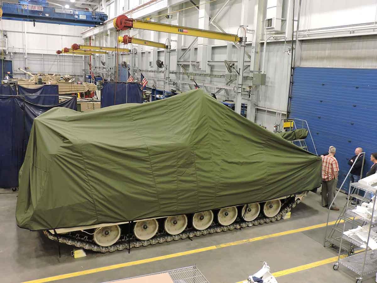Envelop Abrams tank