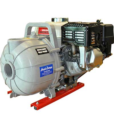 QP Pumps Honda engine drive polypropylene pump