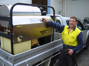Diesel Drive High Pressure Steam Cleaner - Aussie Hydrotek - Aussie