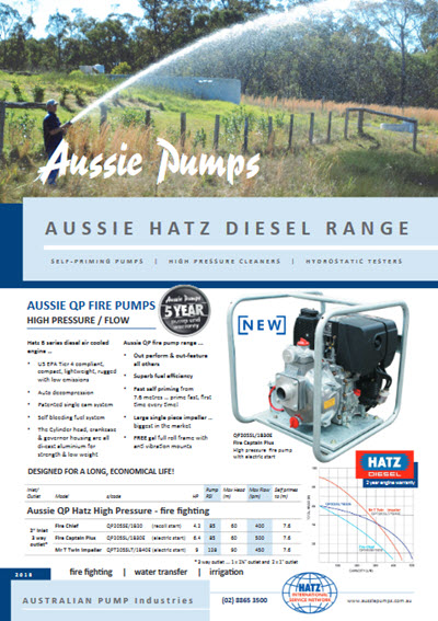 aussie pumps powered by hatz brochure