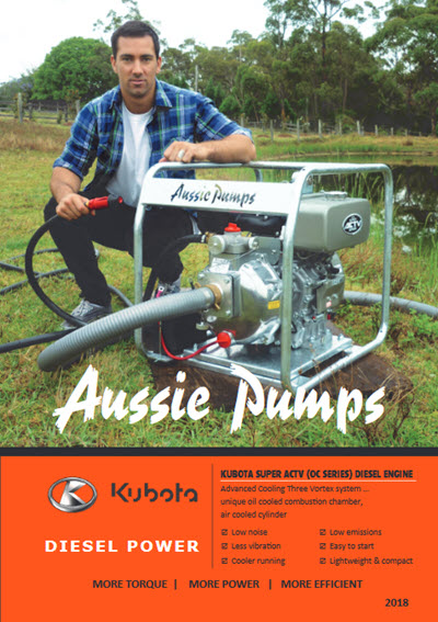 aussie pumps powered by kubota brochure