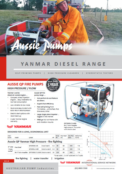 aussie pumps powered by yanmar brochure