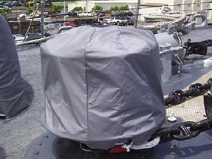 hi-tech protective covers for deck machinery