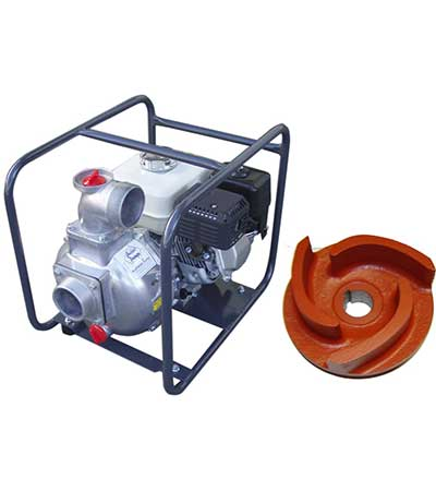 spares transfer pump with impeller