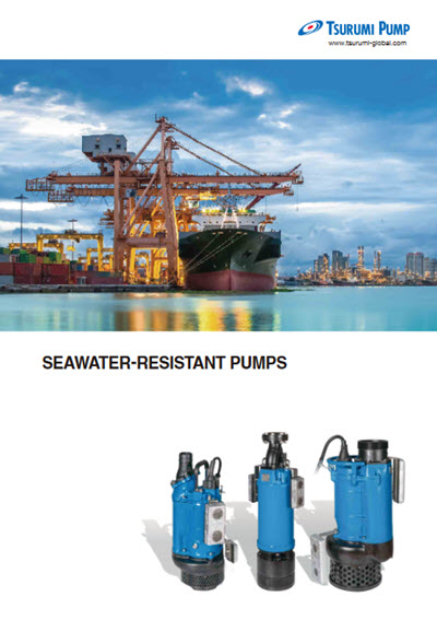 tsurumi submersible dewatering pumps seawater resistant catalogue