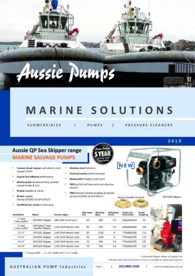 Aussie Pumps Marine Industry Catalogue