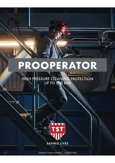 TST ProOperator 500 bar Protective Gear Catalogue
